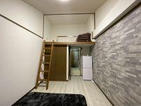 清潔感のあるロフト付き寮。都度しっかり清掃もしてあります。
